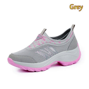 Women's Casual Running Shoes Mesh Breathable Sneakers Comfortable Flats Shoes