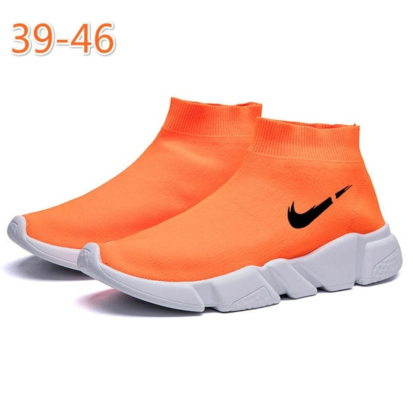 Men's High-top Ultra-light Fly Woven Socks Shoes Men's Must-have Casual Sports Shoes 39-46