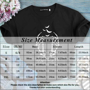 New Women Fashion Halloween Gothic T Shirt Cool Short Sleeve Skull Printed Punk T-Shirt Tops