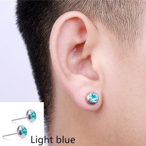 Fashion micro-magnetic slimming earrings Hypoallergenic color diamond stud earrings Stainless steel earrings Fat burning Magnetic therapy to lose weight