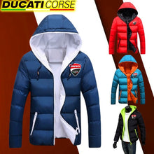 Load image into Gallery viewer, Winter Fashion Women Men Down Jacket Ducati Corse Moto Gp Racing Jackets Casual Windbreaker Light Weight Jacket Thickening Coats