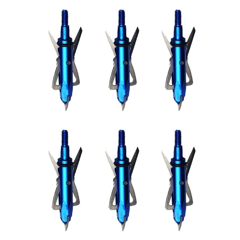 6pcs/12pcs 100 Grain Stainless Steel Hunting Arrowheads DIY Arrow Points Broadhead for Archery Compound Recurve Bow