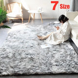 Tie-Dye Art Carpet Super Soft Floor Bedroom Mat Gradient Color Large Size Fluffy Area Rug Living Room Carpet Hallway Mat Home Decoration