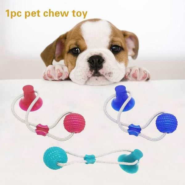 Pet Rubber Toy Dog Bite Toy Dog Bite Rope Pet Molar Toy Dog Chew Toy