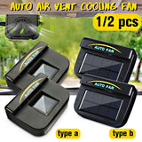 1/2 pcs Solar Sun Power Car Fan Cooler Ventilation System Radiator Car Window Cooling Fans