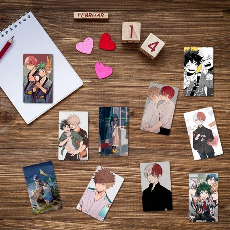 10Pcs/Set My Hero Academia Lomo Cards Boku No Hero Academia Mini Bus Card Sticker Anime Cards(28 Types)