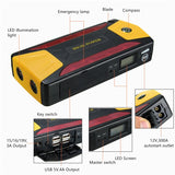 1000A Peak 82800mAh Car Jump Starter (up to 8L Gas, 6L Diesel engine) with LCD Screen, USB Quick Charge, 12V Auto Battery Booster, Portable Power Pack with Built-in LED light