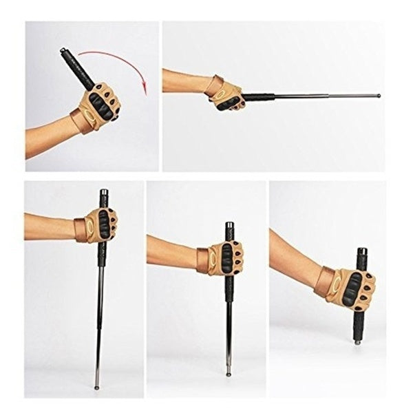 Portbale Telescopic Pole Expandable Baton for Self-Defense Personal Security