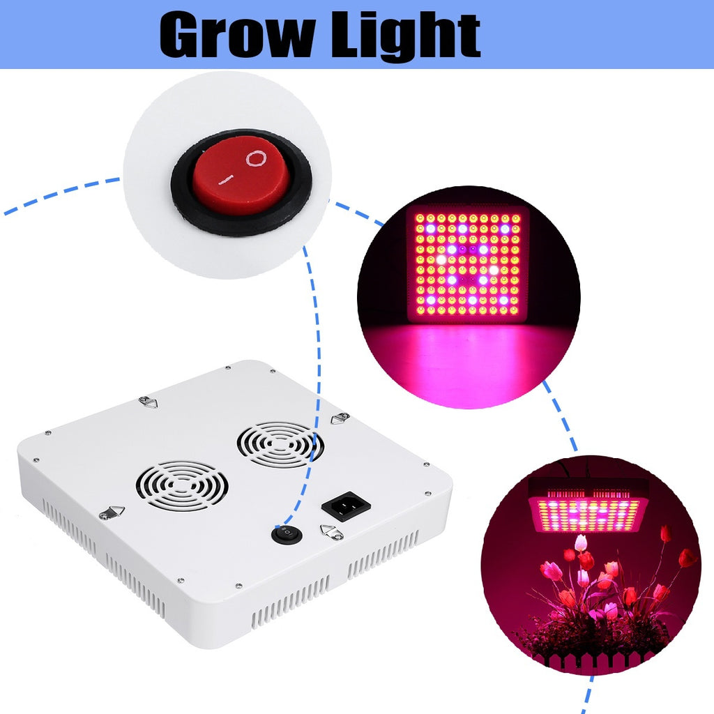 3000W LED Grow Light Full Spectrum Grow Lights  With 2 Fans Adjustable Rope for Indoor Greenhouse Hydroponic Plants Growing Lamp (US/UK/EU Plug)