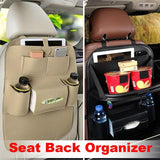 Car Seat Back Organizer Bag Storage Travel Multi-pocket Universal PU Leather Back Seat Protector Auto Accessoires
