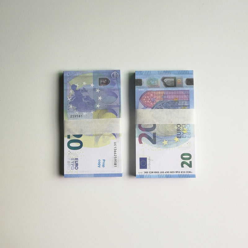 100pcs Copy 10/20/50/100/500 EUR Fake Paper Money Bank EUR Training Collect Learning Banknotes EUR Magic Props