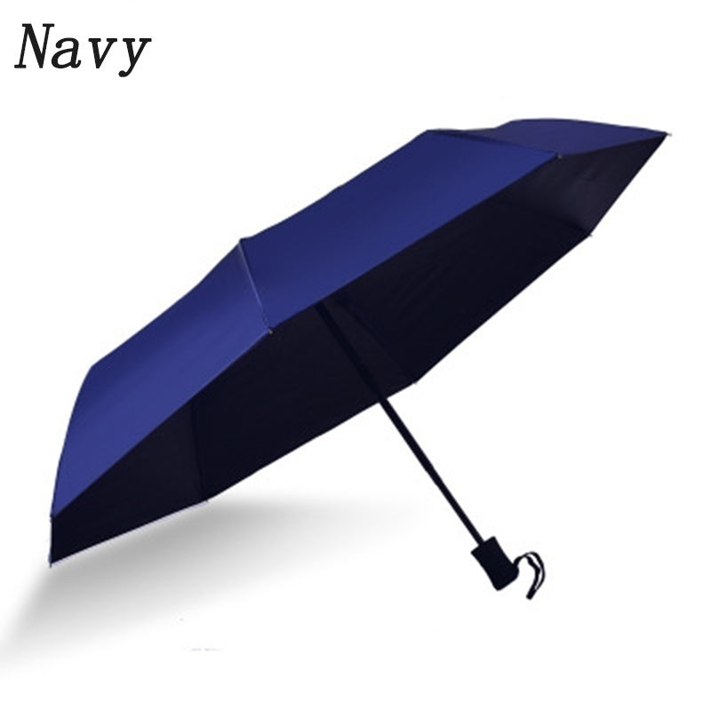 Solid Color Self-opening Automatic Umbrella Male and Female Universal Sunscreen UV Protection Sunshade Three Folding Umbrella