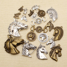 Load image into Gallery viewer, 6 Pieces Horse Head Charms For Jewelry Making Findings For Diy Jewelry HJ053