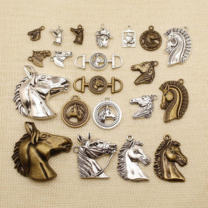 6 Pieces Horse Head Charms For Jewelry Making Findings For Diy Jewelry HJ053