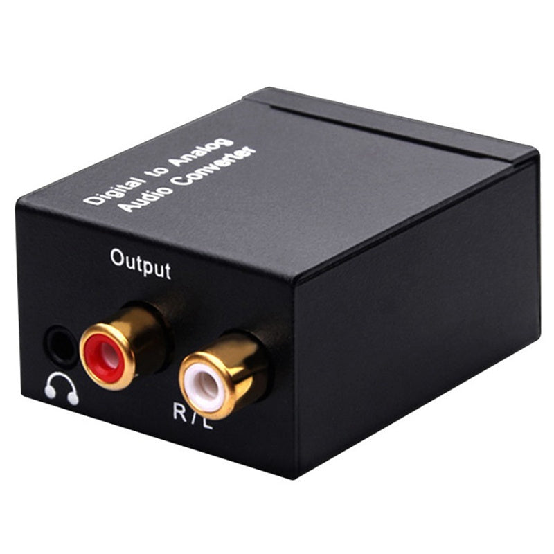 Optical Coax Toslink Digital to Analog Converter RCA L/R Stereo Audio Adapter