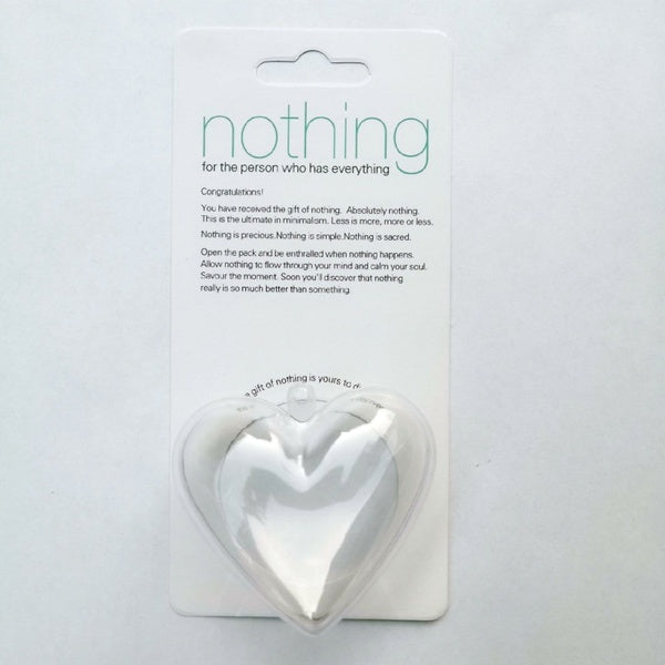 New Creative Gift of Nothing for the Person Who Has Everything