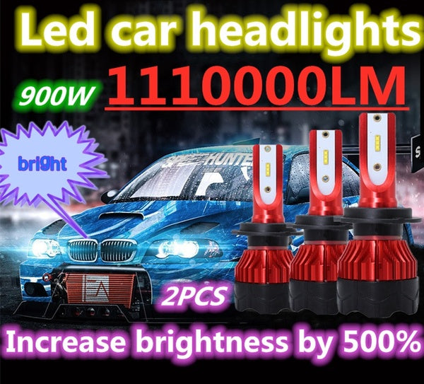 New R & D Ultra High Brightness 2PCS / SET H1 H3 H4 H7 H8 H9 H11 H13 880 881 9004 9005 9006 9007 9012 COB CREE LED Car Headlight Kit Driving Light Bulb