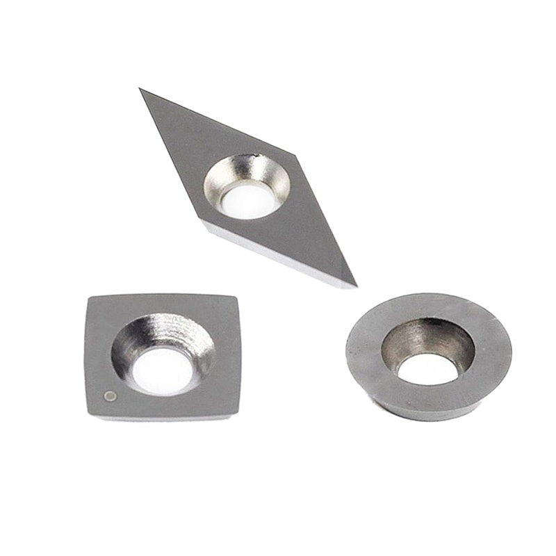 New 3Pcs Tungsten Carbide Cutters Inserts Set For Wood Lathe Turning Tools