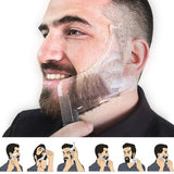 New Men Beard Shaping Tool With Inbuilt Comb For Perfect Line Up Beard Shaping Template Double-Sided Beard Style Comb