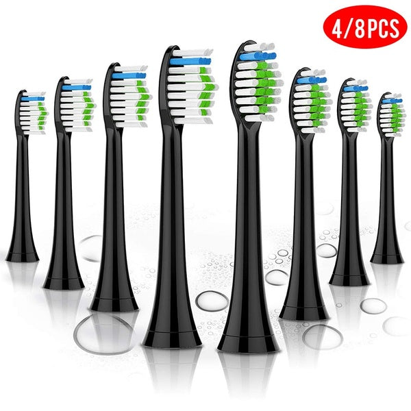 New 4/8/12/16/20 Pcs Toothbrush Heads for HX6064 Philips Sonicare Diamond Clean Replacement Head Black/White