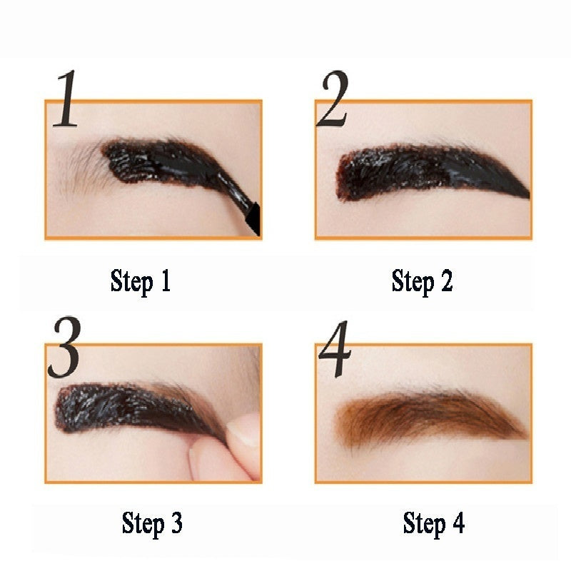 1 Pcs Eyebrow Black Coffee Gray Peel Off Eye Brow Tattoo Shadow Eyebrow Gel Cosmetics Makeup