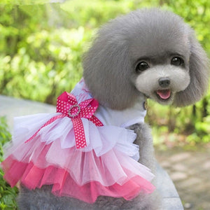 Pet Apparel Clothes Princess Dress Puppy Tutu Dog Costume Lace Pet Skirt Lip Love Cute Casual Formal