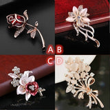 Korean Fashion Bauhinia Opal Women's Brooch Corsage Pin Women's Accessories For Valentine's Day Gifts Mother's Day Gifts