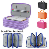 Four Layers 72 Holes Large Capacity Portable Pencil Case Drawing Sketch Stationery Storage Bag Office School Painting Art Supplies