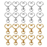 10Pcs Metal Swivel Lobster Clasp Snap Hook Heart Shape Keychain Jewelry Findings AXD