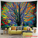 150*130cm/200*150cm Colorful Tree/Mushroom/Sunflowers Wall Hanging Tapestry Boho Wall Decor Psychedelic Hippie Boho Tapestry Home Decoration