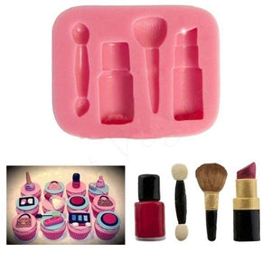 Silicone Fondant Mould Lipstick Brush Shape Cake Decorating Chocolate Kitchen Baking DIY Mold Sugarcraft Tool