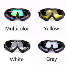 Load image into Gallery viewer, Outdoor Safety Motorcycle Men Anti-Fog Windscreen CS UV400 Double Lens Riding High-end Glasses Goggles Ski Mirror