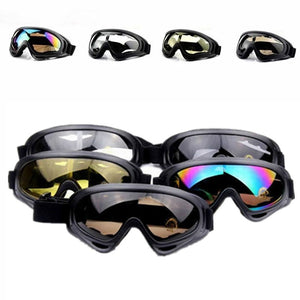 Outdoor Safety Motorcycle Men Anti-Fog Windscreen CS UV400 Double Lens Riding High-end Glasses Goggles Ski Mirror
