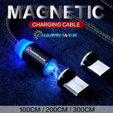 Magnetic Charging Cable, Android Phone Charger Cables [Micro USB/Type-C Optional] USB Charge Line Channewer Phone Upgrades Detachable Rotate Magnet Adapter LED Indicator Nylon Braided Cord STONEGO Accessories for Smartphones, Pad, Tablets