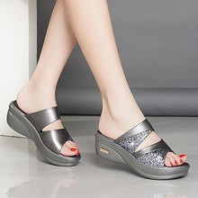 Load image into Gallery viewer, New Spring Womens Fashion Beach Slippers Wedges Open Toe Shoes Ladies Platform Slippers
