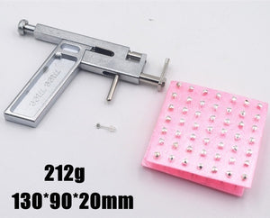 2020High Quality 2 colors Major Steel Ear Nose Navel Body Piercing Gun 98pcs with Studs Tool Kit Sets