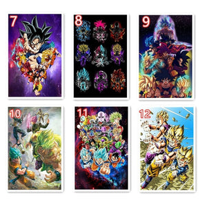 New 2020 5d Diamond Painting Dragon Ball Super Saiyan goku Full Square/Round Drill Crystal Mosaic Picture diy Diamond Embroidery