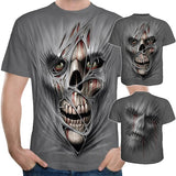 Mens Funny Vintage Gothic Shirt SKull 3D Printed T-Shirts for Men Women Streetwear Casual Short Sleeve Tees