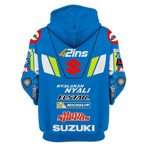 Men's Fall Winter Suzuki Riding Motorcycle Hooded
