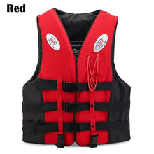 Load image into Gallery viewer, Outdoor Unisex Adult Kid Lifejacket Professional Swimwear with Life Whistle Sea Sailing Boating Fishing Buoyancy Kayak Canoe Drifting Night Reflective Strip Aid Impact Life Jacket Vest