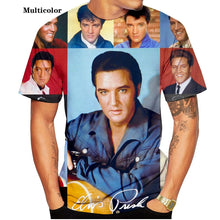 Load image into Gallery viewer, 2020 Fashion Popular Rap Music Singer Elvis Presley 3D Printed Short Sleeve T Shirt Streetwear Men/women Casual Tops XS-5XL