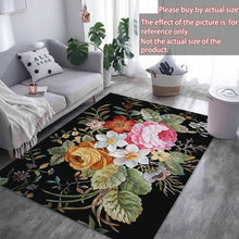 Load image into Gallery viewer, 2Sizes 3D American Flowers Non-slip Mat Living Room Comfortable Carpet Mat Soft Floor Carpet Anti-skid Rugs for Bedroom