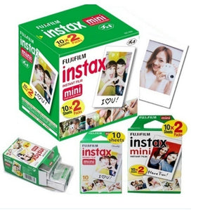 10/20/30 Sheet Original Fuji Film Instant White Edge Photo Paper Suitable for Fujifilm Polaroid Instax Mini 9 8 7s 25 50s 9 90 Series Cameras