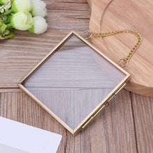 Load image into Gallery viewer, Creative Chain Retro Metal Photo Frame High Translucent Glass Photo Frame Specimen Folder 2 Size Optional CAD