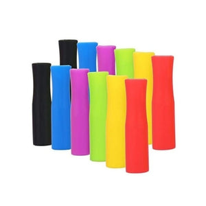 40/20pcs Caps Anti Burn Teeth Protector Bar Reusable Silicone Straw Sleeve Food Grade Accessories Silicone Tip