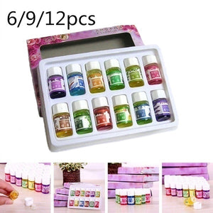 6/9/12pcs Natural Aroma Fragrance Essential Oil Set for Aromatherapy Humidifier Water Soluble Room Home Air Freshener