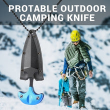 Load image into Gallery viewer, Multifunctional Mini Hanging Necklace Knife Protable Outdoor Camping Knife Rescue Survival Tool