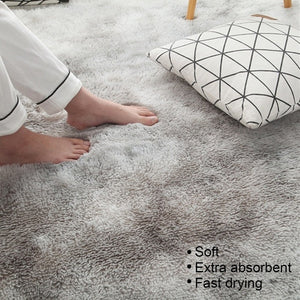 4 Colors Shaggy Fluffy Rugs Anti-Skid Area Rug Floor Mat Carpets Home Bedroom Living Room Decor