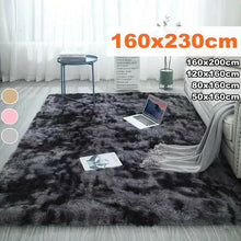 Load image into Gallery viewer, 4 Colors Shaggy Fluffy Rugs Anti-Skid Area Rug Floor Mat Carpets Home Bedroom Living Room Decor