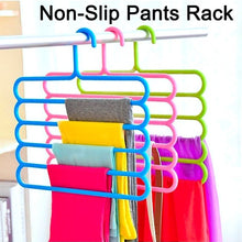 Load image into Gallery viewer, 5 Layers Space Saving Pants Racks Closet Organizer Pants Hangers Holders for Trousers Towels Scarf Tie Clothes Organizer Magic Racks